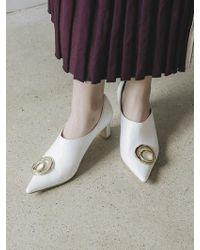 W Concept - Gold Ornament Heels - Lyst