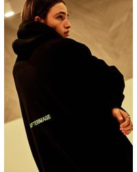 Add - Afterimage Oversized Taping Hoodie Black - Lyst