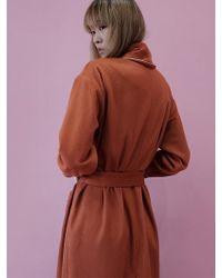 W Concept - Classic Robe - Orange Brown - Lyst