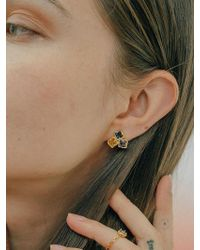 W Concept - Triple Melting Square Earring 1piece - Lyst