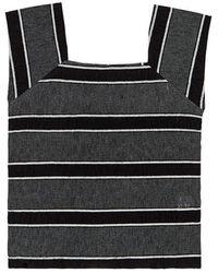 among - A Stripe Sleeveless - Lyst
