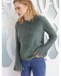 PLOT - Flared Sleeve Angora Knit_2colors - Lyst