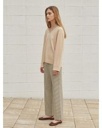 W Concept - Grab Check Bootcut Pants - Lyst