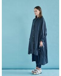 W Concept - Snap Decoration Oversized Ripstop Coat Ny - Lyst