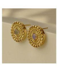 FLOWOOM - Opal Earrings - Lyst