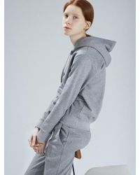 AECA WHITE - Mid Terry Pullover Hoodie Grey - Lyst