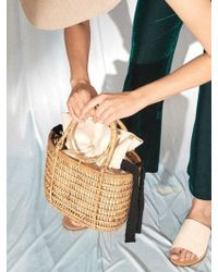 Awesome Needs - Rattan Bag Cream Linen - Lyst