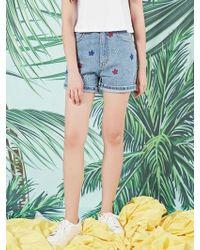 Blank - Star Shorts Bl - Lyst