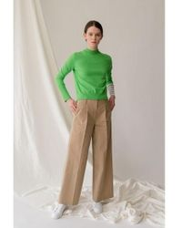 AEER - Trousers Cotton Wide Bg - Lyst