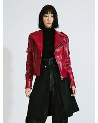 DOZOH - [unisex] Dz Red Lambs Leather - Lyst