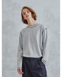OWL91 - Cover Stitch T Shirts Grey - Lyst