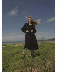 NUISSUE - Handmade Wool Trench Coat Black - Lyst