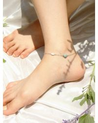 W Concept | Silver Anklet [shell] | Lyst