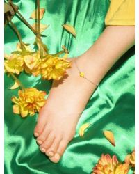 W Concept | Silver Anklet [yellow] | Lyst