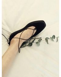 Wite - A021 All Black Strap Shoes - Lyst