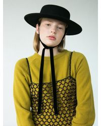 Awesome Needs - [unisex] Lambs Wool Low Boater Hat_black - Lyst