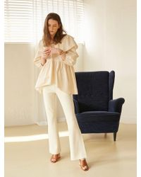 W Concept - Diana Ruffle Blouse - Lyst