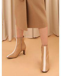 W Concept - Mrc043 Line Boots_beige-white Line - Lyst