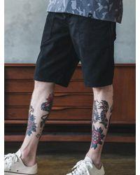 F.ILLUMINATE - Fatigue Shorts-black - Lyst