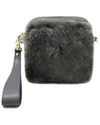Maison de H - Hairy Gray-shoulder Bag - Lyst