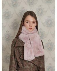 W Concept - Drap Fake Fur Muffler 5color - Lyst