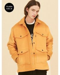 W Concept - [flash Sale] Ol124 Urban Vibes Half Coat Mustard - Lyst