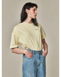 Bouton - Kiosk Uneven Sleeve T Yellow - Lyst