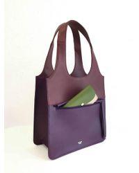 Atelier Park - Line Tote Bag_mini Purple - Lyst