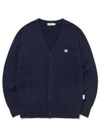 LIFUL MINIMAL GARMENTS - Kanco Classic Knit Cardigan Navy - Lyst
