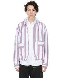 LIFUL MINIMAL GARMENTS - Minimal String Stripe Jacket Burgundy - Lyst