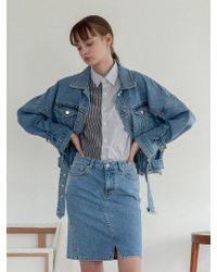 TARGETTO - Oversize Denim Jacket Blue - Lyst