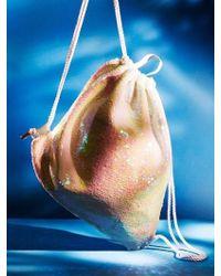 UNDER82 - Shinning Drawstring Bag Ivory - Lyst
