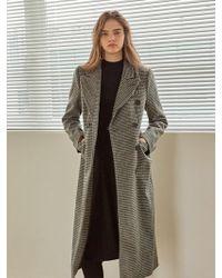 YAN13 - Breasted Wool Coat Gray - Lyst