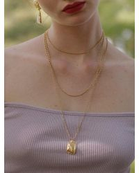 1064STUDIO - Gold Pebble Necklace - Lyst