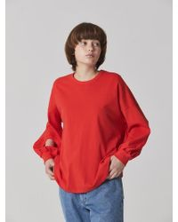 Bouton - Hole Sleeve T-shirts - Red - Lyst