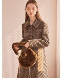 W Concept - Hound Tooth Check Coat - Lyst