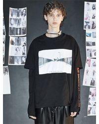 W Concept - [unisex] Black Joy Division 1/2 T-shirts - Lyst
