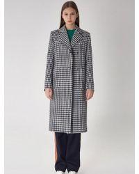 AVA MOLLI - Mickey Semi Double Wool Coat - Lyst