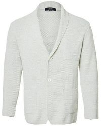 J'RIUM - Denim Shawl Knit Jacket Ivory - Lyst