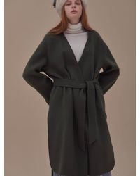 ANSWERING BIRD - Jade Handmade Coat Khaki - Lyst