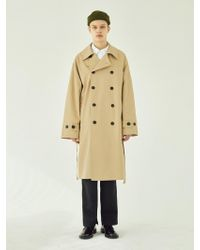 W Concept - Lsa Over Trench Coat-beige - Lyst