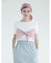 THE ASHLYNN - Selflove Dixie Linen Bow T-shirt_white - Lyst