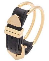 VIOLLINA - Gold Wire Leather Bracelet - Lyst