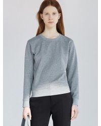 AECA WHITE - Mid Terry Sweatshirt Grey - Lyst