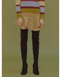 Margarin Fingers - Unbalance Check Skirt - Lyst