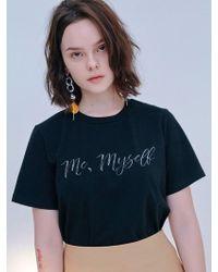 Blank - Myself T Shirt Black - Lyst