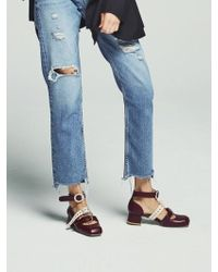 W Concept - Burgundy Shelley Strap Shoes - Lyst