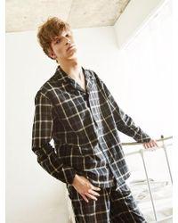 W Concept - [unisex]check Pajama Shirts Black - Lyst