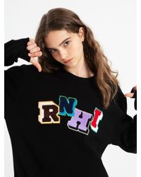 W Concept - Rnhi Embroidery Sweatshirt Black - Lyst