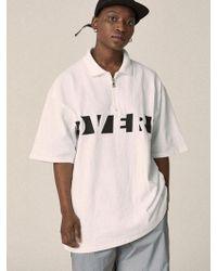 OVERR - 17su Basic White Zipup Shirts - Lyst